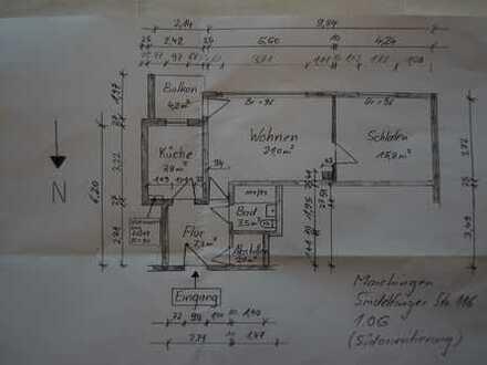 Sonnige 2-Zimmer-Wohnung mit Balkon in Sindelfingen