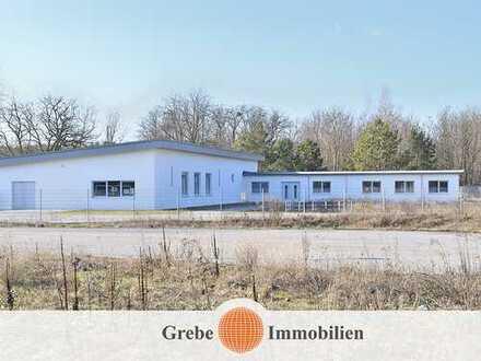 Diese neuwertige Gewerbeimmobilie mit 340 m² Werkstatt + Produktion und 310 m² Büro wartet auf Sie!