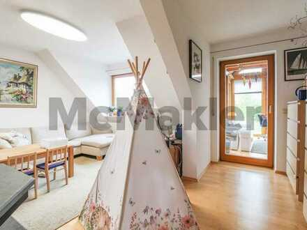 Helle 4-Zimmer-Maisonette mit Wintergarten in mittelfränkischem Idyll