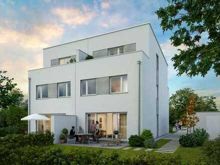Moderne Doppelhaushälfte im Bauhausstil * offenes Dachstudio * sonnige Dachterrasse * großer Garten