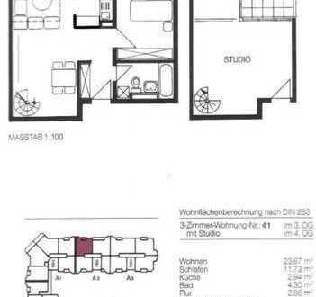 Maisonette Wohnung mit Galeriecharme und zwei Balkone