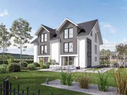 Doppelhaushälfte mit schön proportionierten Grundstück!