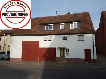 Zweifamilienhaus mit Garage, Scheune und Ausbaupotenzial in Weiler zum Stein zu verkaufen !