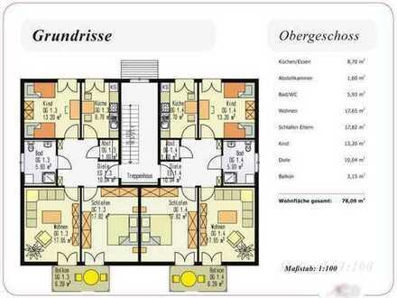 Preiswerte, gepflegte 3-Zimmer-Wohnung 78qm mit Balkon und Einbauküche in Stamsried