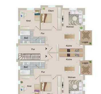 H30 - MODERNE & HELLE - NEUBAU 3-Zimmer-Whg in solider Bauqualität-idyllische Wohnlage nahe Zentrum