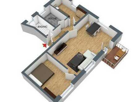 3-Zimmer-Wohnung mit Balkon im ersten Obergeschoss in Chemnitz-Borna