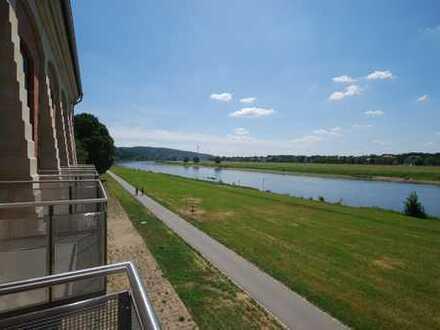* Bestlage an der Elbe mit Süd-Balkon und ebenerdiger Terrasse *