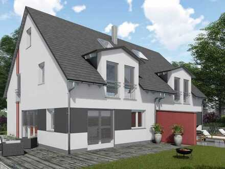 "Neubau! Unsere Doppelhaushälfte mit Keller "" Family 136 SD "" in Kaufering."