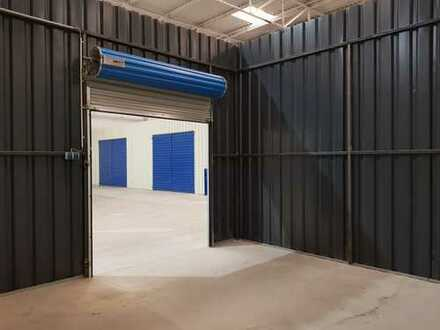 Eine 30 Quadratmeter-Lagerhalle zu vermieten, Gewerbehalle