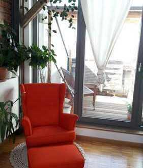 Wunderschöne Architektenwohnung | 4,5-Zimmer-Maisonette-Wohnung mit Balkon in Leipzig Schleußig