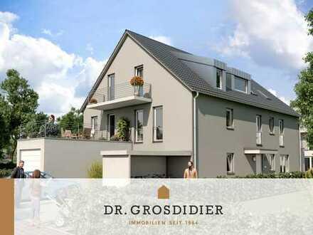 Dr. Grosdidier: Lichtdurchflutete 2-Zi.-DG-Whg. mit Dachterrasse und Balkon! Neubau! Erstbezug!
