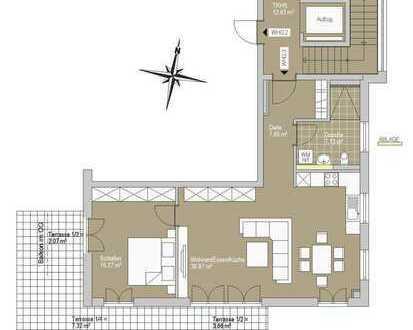 2-Zimmer Wohnung mit viel Platz zum Leben und großem Garten.