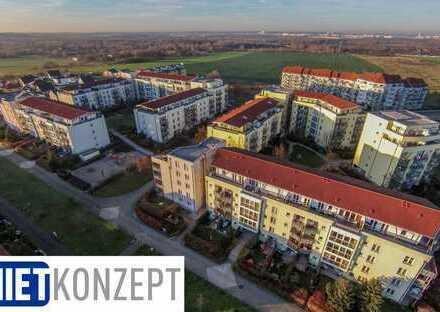 MIETKONZEPT in Wörmlitz: 1-Zimmer-Whg. mit Terrasse und Blick ins Grüne