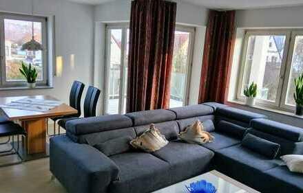 Stilvolle, modernisierte 3,5-Zimmer-Wohnung mit Balkon und EBK in Blaustein-Klingenstein