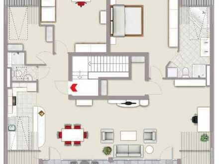 4 Zimmer Penthouse Wohnung mit Whirlpoolwanne und super Blick
