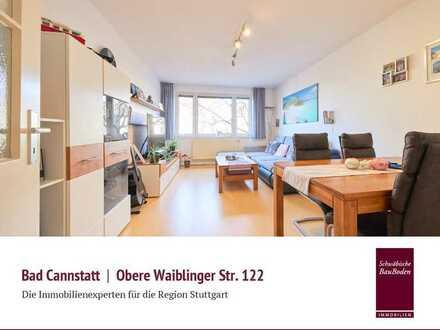 Bad Cannstatt | Attraktive, helle 2 Zi. Mietwohnung, ca. 61 qm, Einbauküche, toller Grundriss++