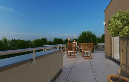 Penthouse mit großer (65m² Grundfläche) Panorama-Dachterrasse