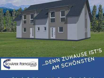 KfW 55 Doppelhaushälfte in Südlage