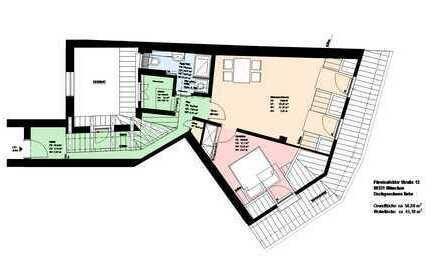 *Zentrum*Möblierte 2-Zimmer-Wohnung mit sep. Küche* hochwertige EBK*Speicherabteil*Parkett