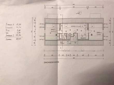 Gepflegte DG-Wohnung mit zweieinhalb Zimmern und Einbauküche in Karlsruhe