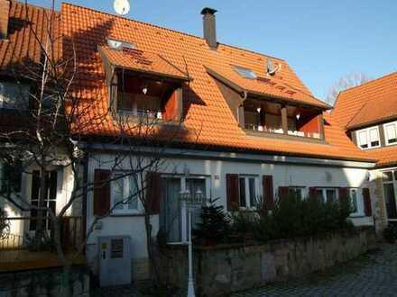 Niveauvolles möbliertes Wohnen mitten im Grünen und zentral, EG mit Terrassen 1.OG Balkone und DG