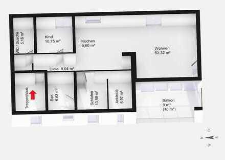 exklusive und helle 3-Zimmer-Wohnung in Obermenzing