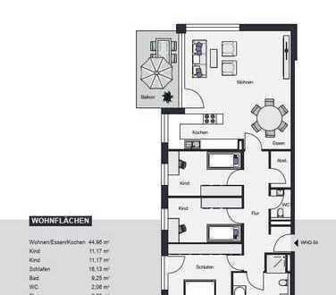 Traumhafte 4-Zimmerwohnung Südbalkon