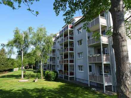 Gepflegte Wohnung, leerstehend oder vermietet, mit Balkon und Blick ins Grüne
