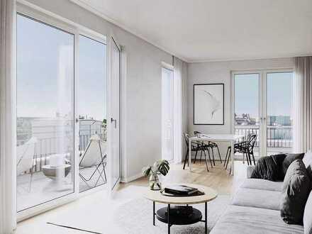 Urbaner Wohngenuss vom Feinsten: 4-Zimmer-Wohnung mit zwei Bädern und sonniger Loggia in Neuhausen