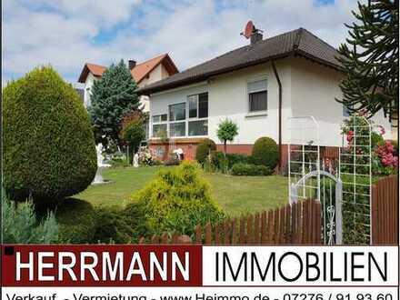 Einfamilienhaus mit Wintergarten, Garage, neue Fenster u. Haustüre sowie einem schönen Garten
