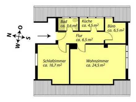 Charmante helle 2,5 Zi-Dachgeschoss-Whg von Privat