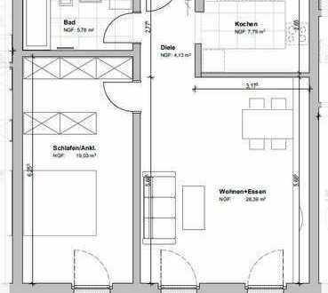 Exklusive 2-Zimmer-Wohnung mit großen Balkon auf der Südhöhe! Fertigstellung Oktober 2019!