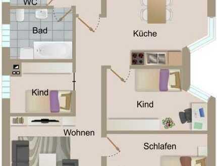 4 Zimmer-Obergeschosswohnung mit Carport und Garten in zentraler Lage von Knittelsheim
