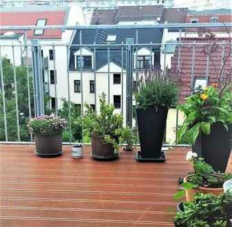 August-Bebelstr./Mahlmannstr. DG-Wohnung mit Terrasse und einmaliger Aussicht