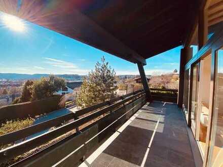 Bergblick vom Balkon - Wohnen und Arbeiten unter einem Dach