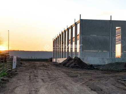 Projektierter Neubau einer Lagerhalle
