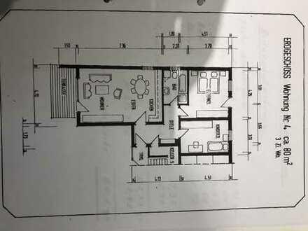 Schöne Drei-Zimmer Wohnungmit Bad,Gartenstück,Terasse