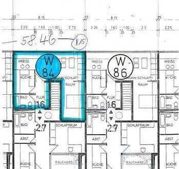 Innenstadt - 56 m² Wohnung über Einkaufszentrum - ideal für Studenten
