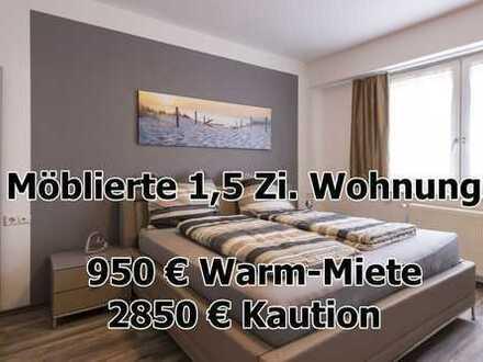 ab 03.12. - Möblierte 1,5 Zimmer Wohnung - 400 Meter vom HBF Pforzheim