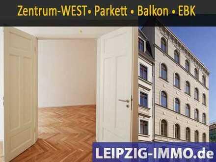 ZENTRUM-WEST+PARKNÄHE *großzügige 4Raumwohnung* Balkon *Einbauküche * Echtholzparkett * TLB mit Wan