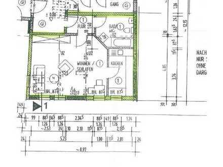 1-Raum-Whg. mit EBK und Parkplatz - teilmöbliert