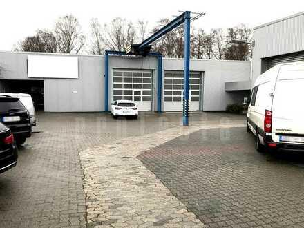 Produktions- und Lagerfläche mit Büro ca. 1.200,00 m²   Hallenkräne 8t   +49 174 208 3175