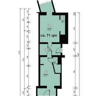 Schöne Zwei Zimmer Wohnung mit kleinem Balkon, Zentrumsnah