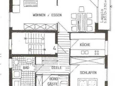 3-Raum-Dachgeschosswohnung mit Balkon und Einbauküche in Mannheim