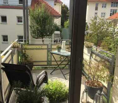 Ruhige 2-Zimmer-Wohnung mit Balkon und EBK in Leipzig