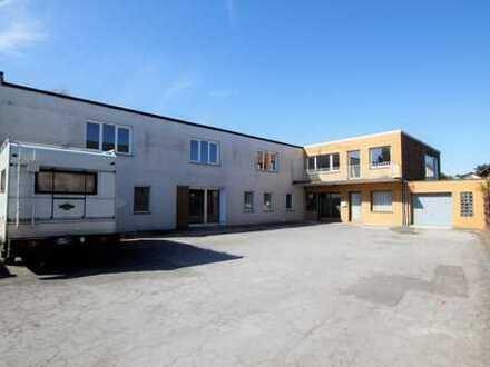 Gewerbehalle, Bürotrakt, Stellplätze, Garage, separate Wohnung und Wohnhaus