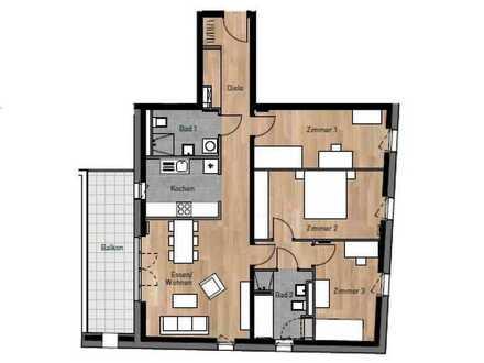 Neubau-Erstbezug! Gut aufgeteilte 4 Zimmerwohnung in HD-Bahnstadt