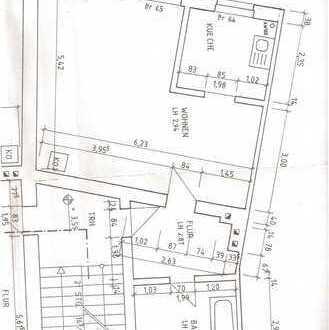 Oranienburg, schöne großzügige 1-Raum-Wohnung nahe Schloß - 47 qm