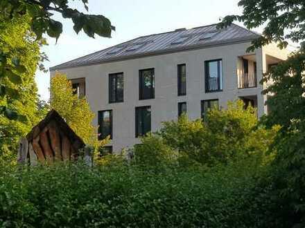 Sehr schöne, sonnige und stilvolle 3-Zimmer-Wohnung (Neubau/Erstbezug) im Jugendstilpark in Haar