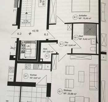 2 - Zimmer Erdgeschosswohnung mit gehobener Ausstattung *Erstbezug*